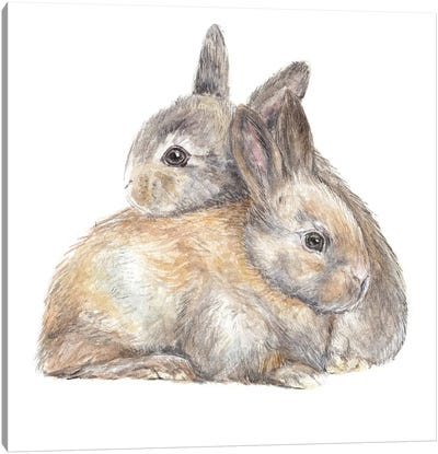 Bunny Snuggle Canvas Art Print