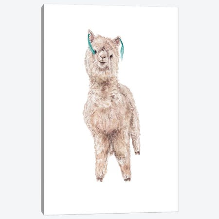 Llama Silly Canvas Print #RGF138} by Wandering Laur Canvas Print