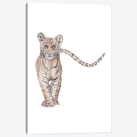 Watercolor Approaching Tiger Canvas Print #RGF168} by Wandering Laur Canvas Art