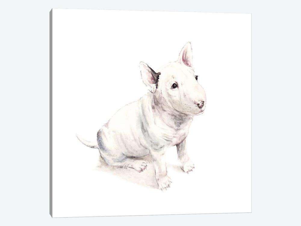 Bull Terrier by Wandering Laur 1-piece Art Print