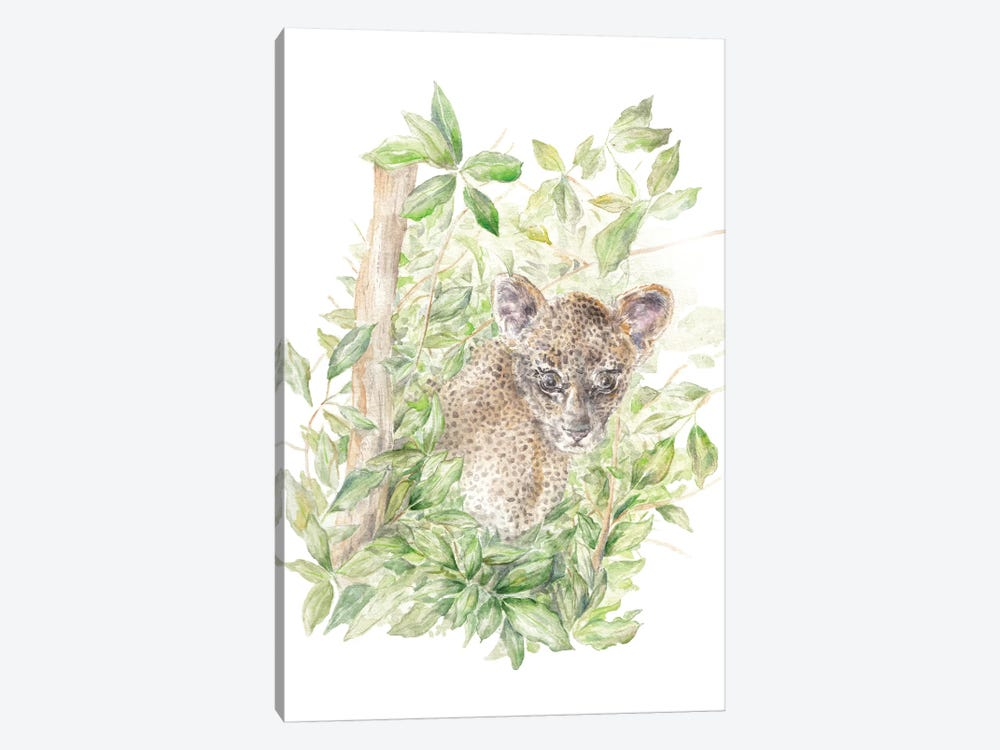 Leopard Cub In The Jungle by Wandering Laur 1-piece Canvas Artwork