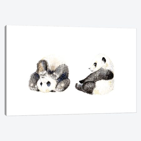 Playful Panda Cubs Canvas Print #RGF64} by Wandering Laur Canvas Print
