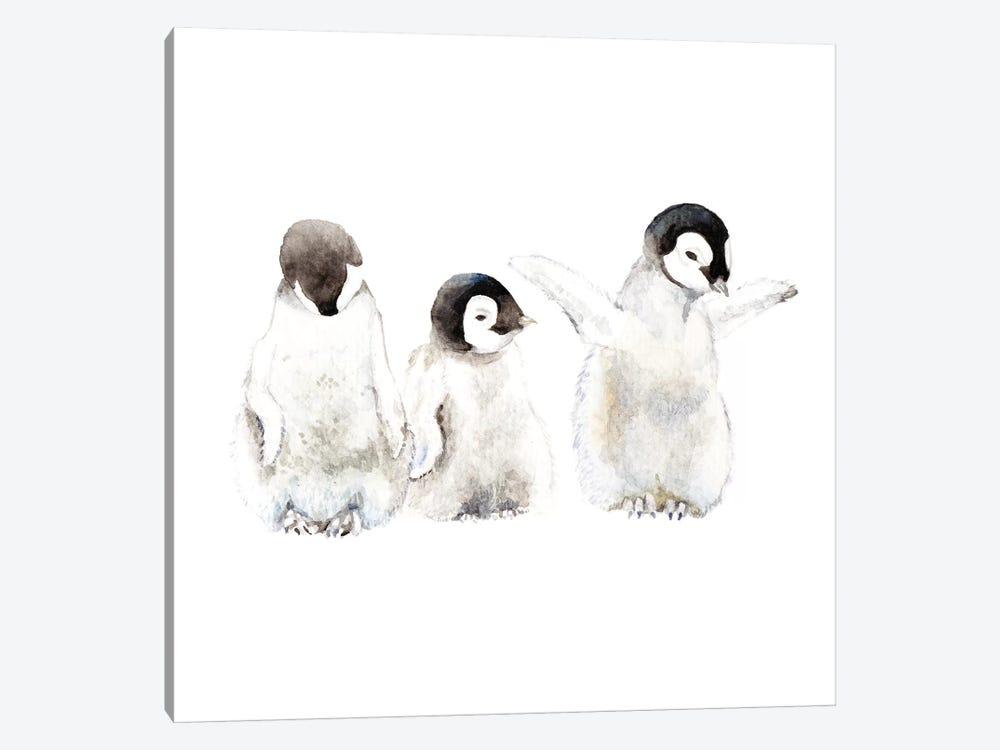 Penguin Chicks by Wandering Laur 1-piece Canvas Artwork