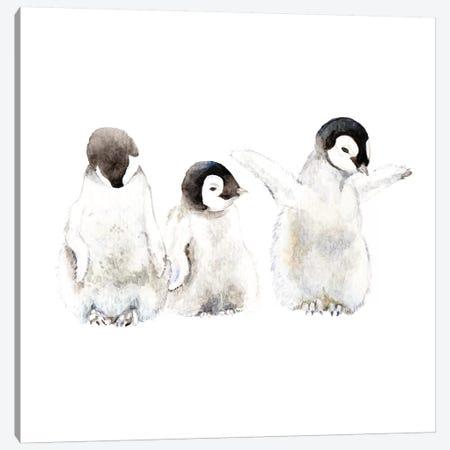 Penguin Chicks 3-Piece Canvas #RGF65} by Wandering Laur Art Print