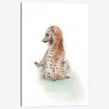 Playful Hyena Canvas Print #RGF66} by Wandering Laur Art Print