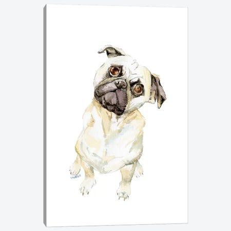 Fawning Pug Canvas Print #RGF68} by Wandering Laur Canvas Wall Art