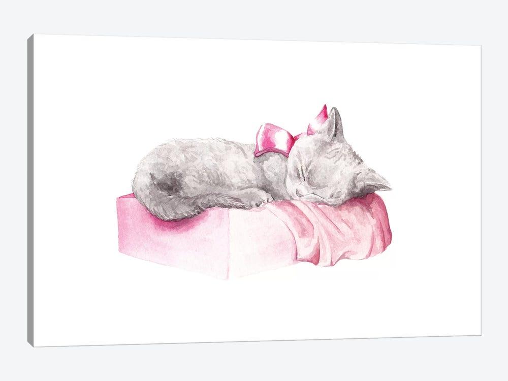 Sleepy Kitten by Wandering Laur 1-piece Canvas Wall Art