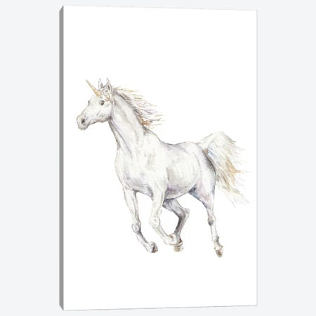 Unicorn Canvas Print #RGF91} by Wandering Laur Art Print