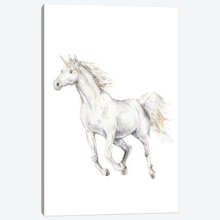 Unicorn Canvas Print #RGF91} by Wandering Laur Art Print