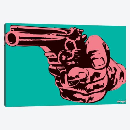 Gun I Canvas Print #RGG13} by JRuggs Canvas Wall Art