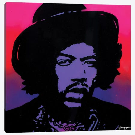 Hendrix Hat Canvas Print #RGG15} by JRuggs Canvas Art Print