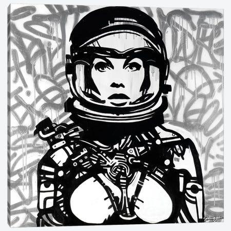Silver Astro Canvas Print #RGG32} by JRuggs Canvas Wall Art