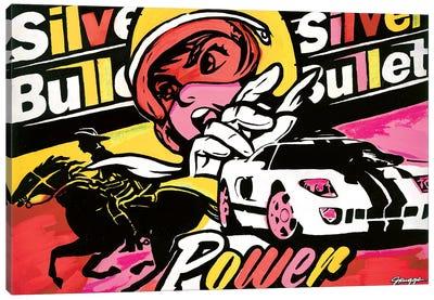 Silver Bullet II Canvas Art Print