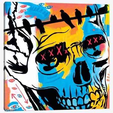 Skull And Ravens Canvas Print #RGG35} by JRuggs Canvas Print