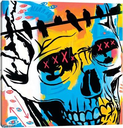 Skull And Ravens Canvas Art Print