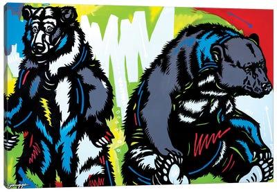 Two Bears Canvas Art Print