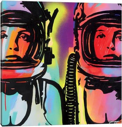 Astronauts Canvas Art Print