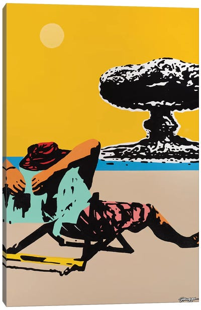 Beach Bomb Canvas Art Print