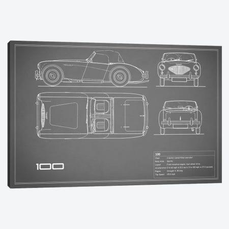 Austin-Healey 100 (Grey) Canvas Print #RGN100} by Mark Rogan Canvas Art Print
