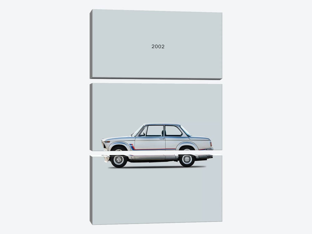 BMW 2002 Turbo by Mark Rogan 3-piece Canvas Art Print