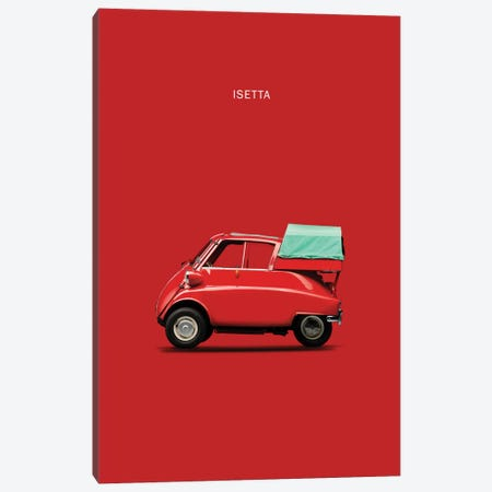 BMW Isetta 300 (Red) Canvas Print #RGN104} by Mark Rogan Canvas Artwork