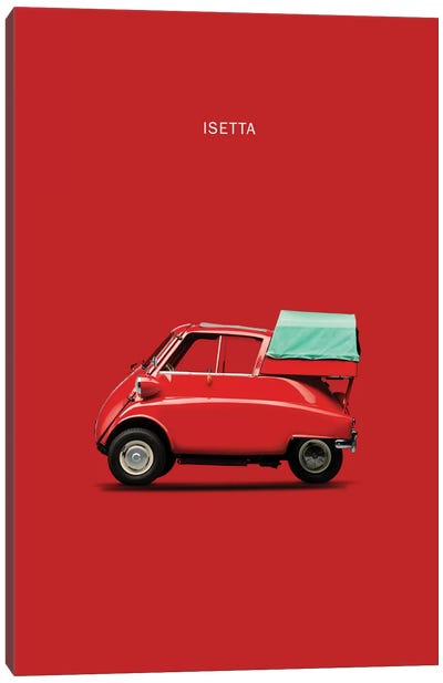 BMW Isetta 300 (Red) Canvas Print #RGN104