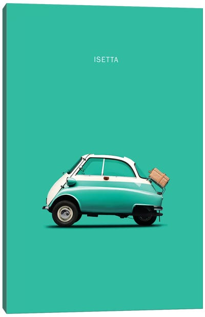BMW Isetta 300 (Teal) Canvas Art Print