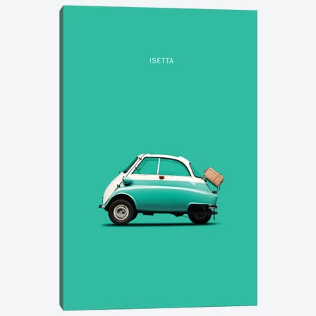 BMW Isetta 300 (Teal) Canvas Print #RGN105} by Mark Rogan Canvas Art