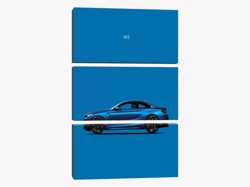 BMW M2 by Mark Rogan 3-piece Canvas Wall Art
