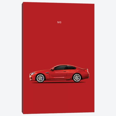 BMW M6 Canvas Print #RGN110} by Mark Rogan Canvas Art