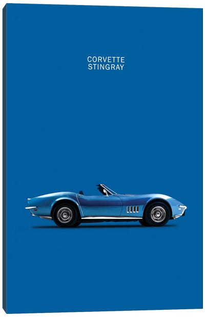 Chevrolet Corvette Stingray (Blue) Canvas Print #RGN120