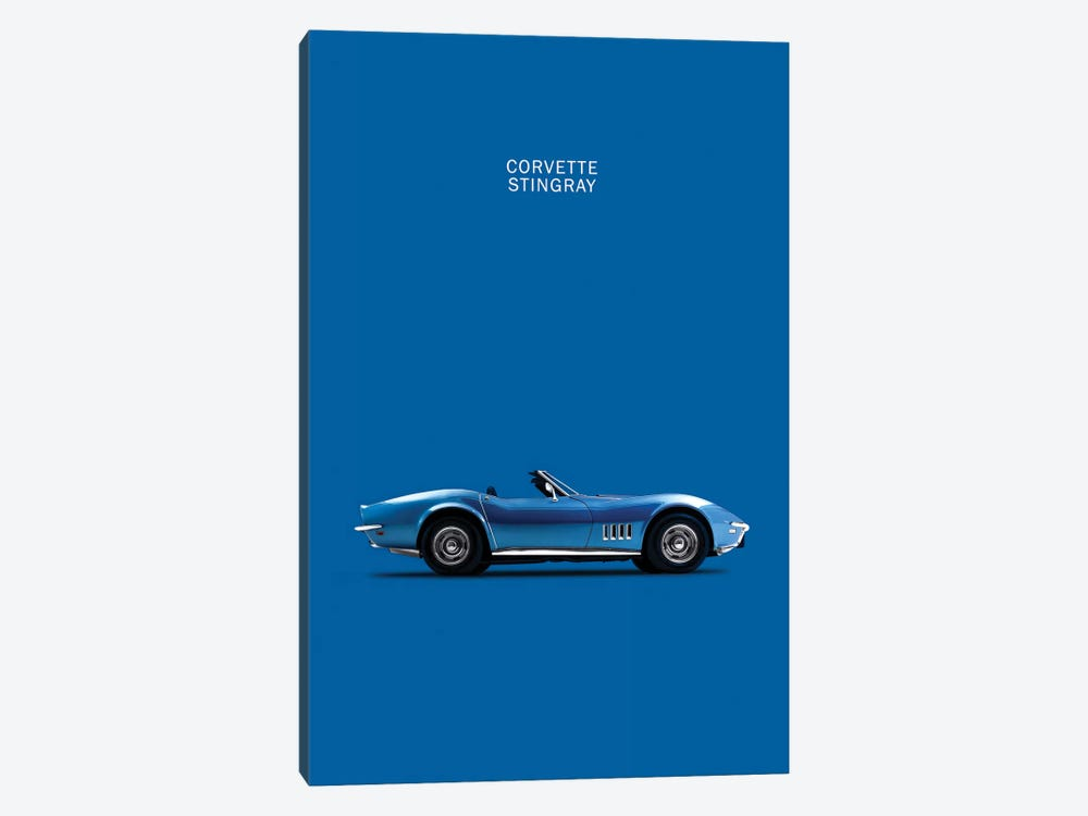 Chevrolet Corvette Stingray (Blue) by Mark Rogan 1-piece Canvas Artwork