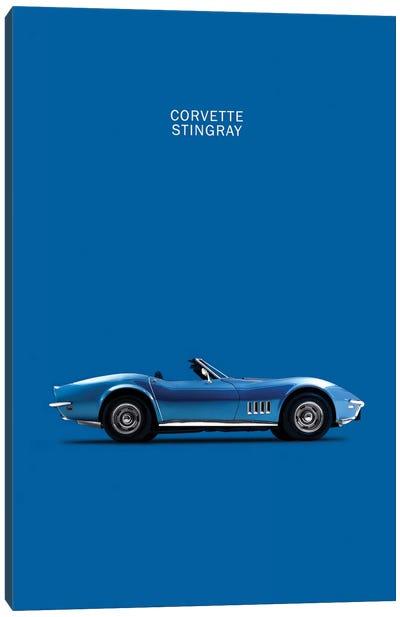 Chevrolet Corvette Stingray (Blue) Canvas Art Print