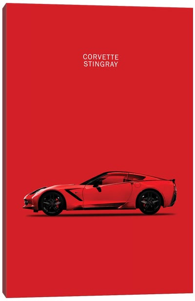 Chevrolet Corvette Stingray (Red) Canvas Print #RGN121