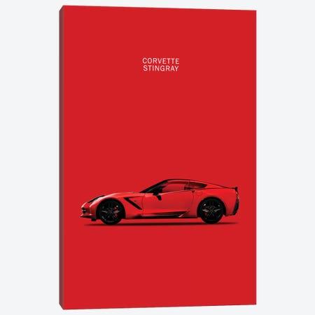 Chevrolet Corvette Stingray (Red) Canvas Print #RGN121} by Mark Rogan Art Print