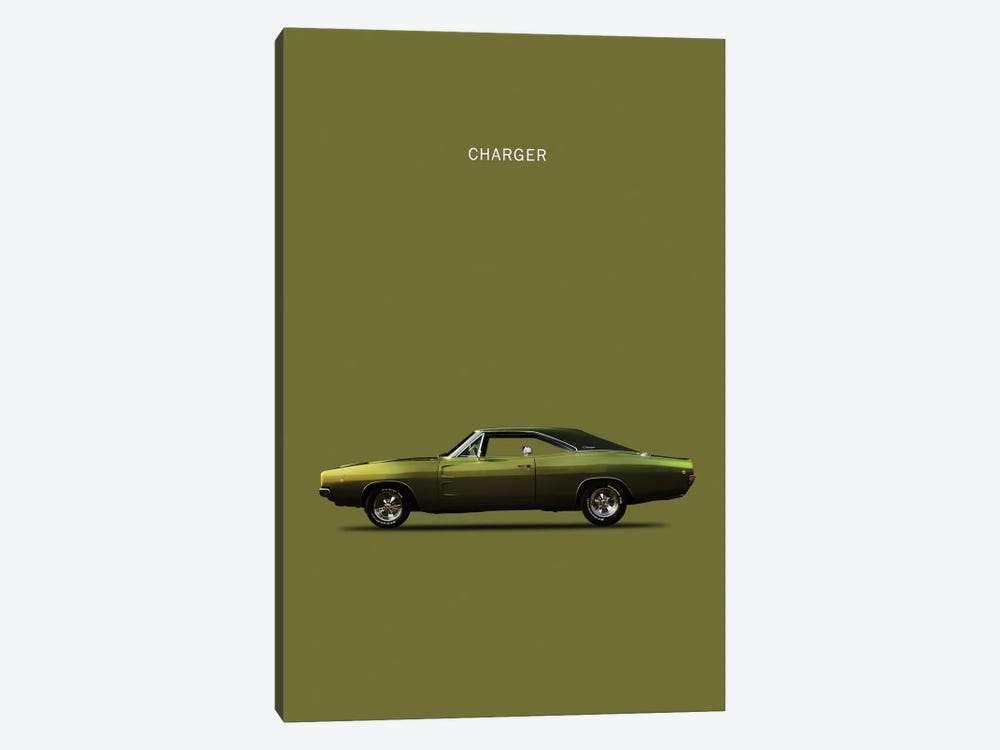 Dodge Charger by Mark Rogan 1-piece Canvas Artwork