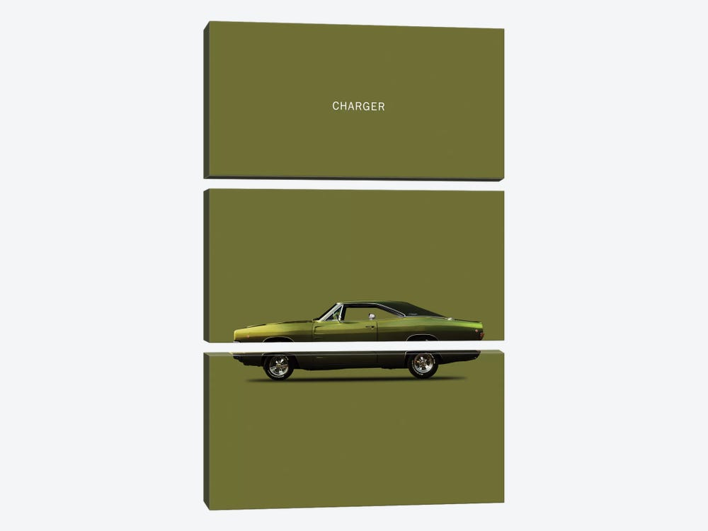 Dodge Charger by Mark Rogan 3-piece Canvas Art
