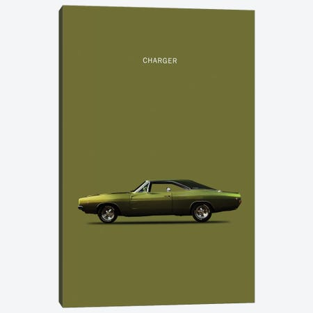 Dodge Charger 3-Piece Canvas #RGN122} by Mark Rogan Canvas Print