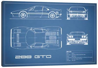 Ferrari 288 GTO (Blue) Canvas Art Print