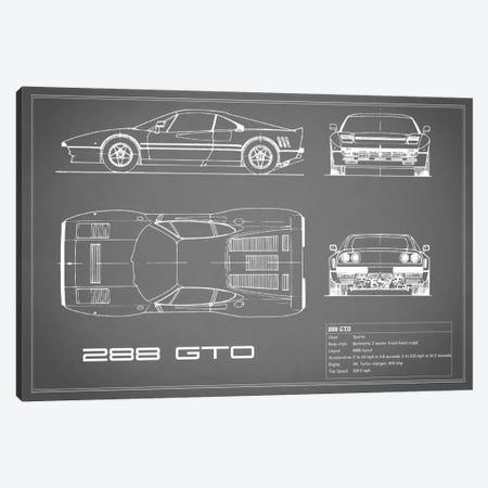 Ferrari 288 GTO (Grey) Canvas Print #RGN129} by Mark Rogan Canvas Art Print