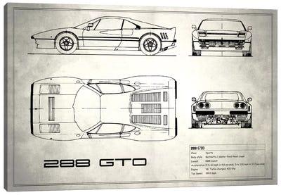Ferrari 288 GTO (Vintage Silver) Canvas Art Print