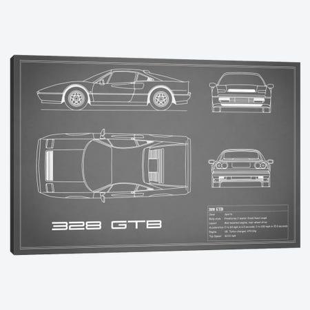Ferrari 328 GTB (Grey) Canvas Print #RGN133} by Mark Rogan Canvas Artwork