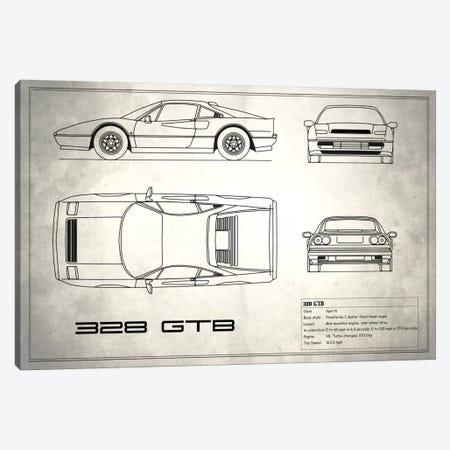 Ferrari 328 GTB (Vintage Silver) Canvas Print #RGN135} by Mark Rogan Art Print