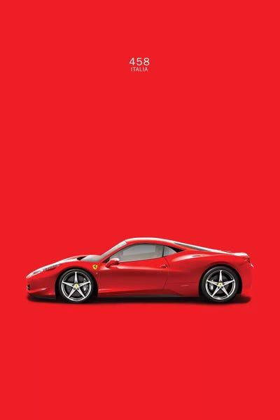 Ferrari 458 Italia Canvas Print By Mark Rogan | ICanvas
