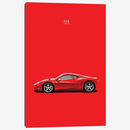 Ferrari 458 Italia Canvas Print #RGN136} by Mark Rogan Canvas Art Print