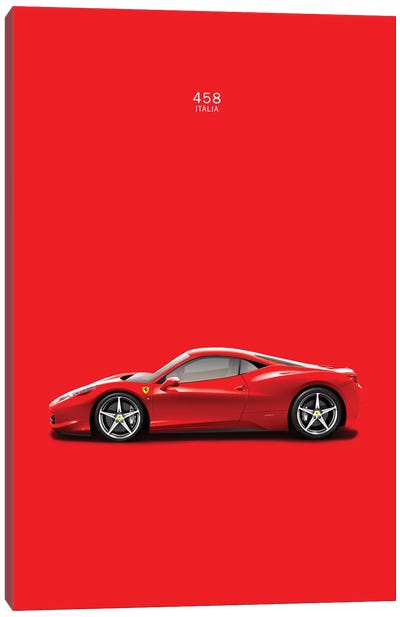 Ferrari 458 Italia Canvas Art Print