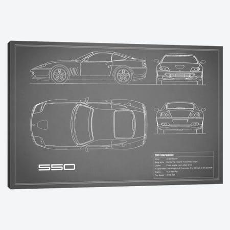 Ferrari 550 Maranello (Grey) Canvas Print #RGN138} by Mark Rogan Canvas Wall Art