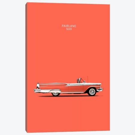 1959 Ford Fairlane 500 Canvas Print #RGN13} by Mark Rogan Art Print