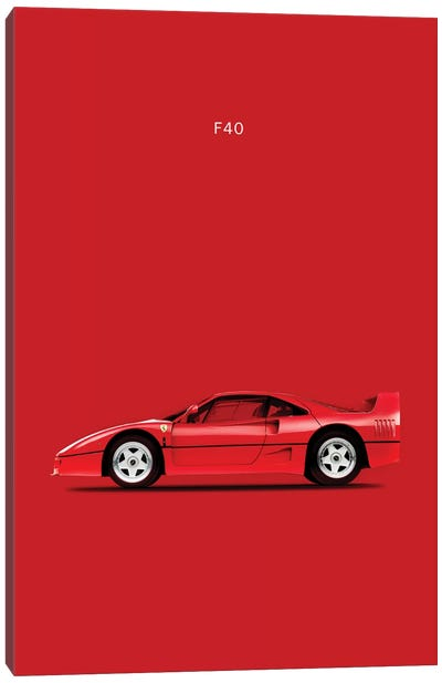 Ferrari F40 Canvas Art Print