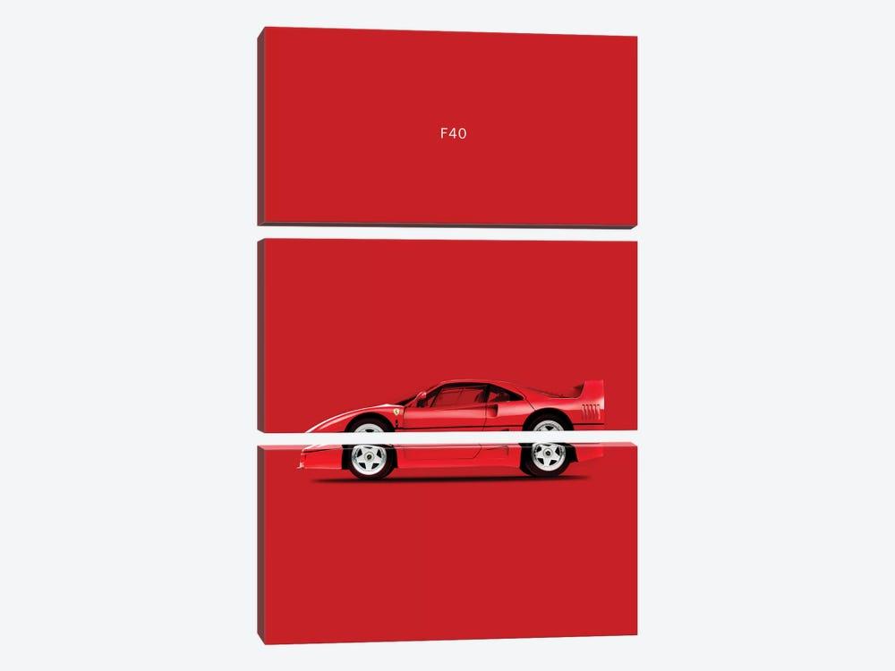 Ferrari F40 by Mark Rogan 3-piece Canvas Print